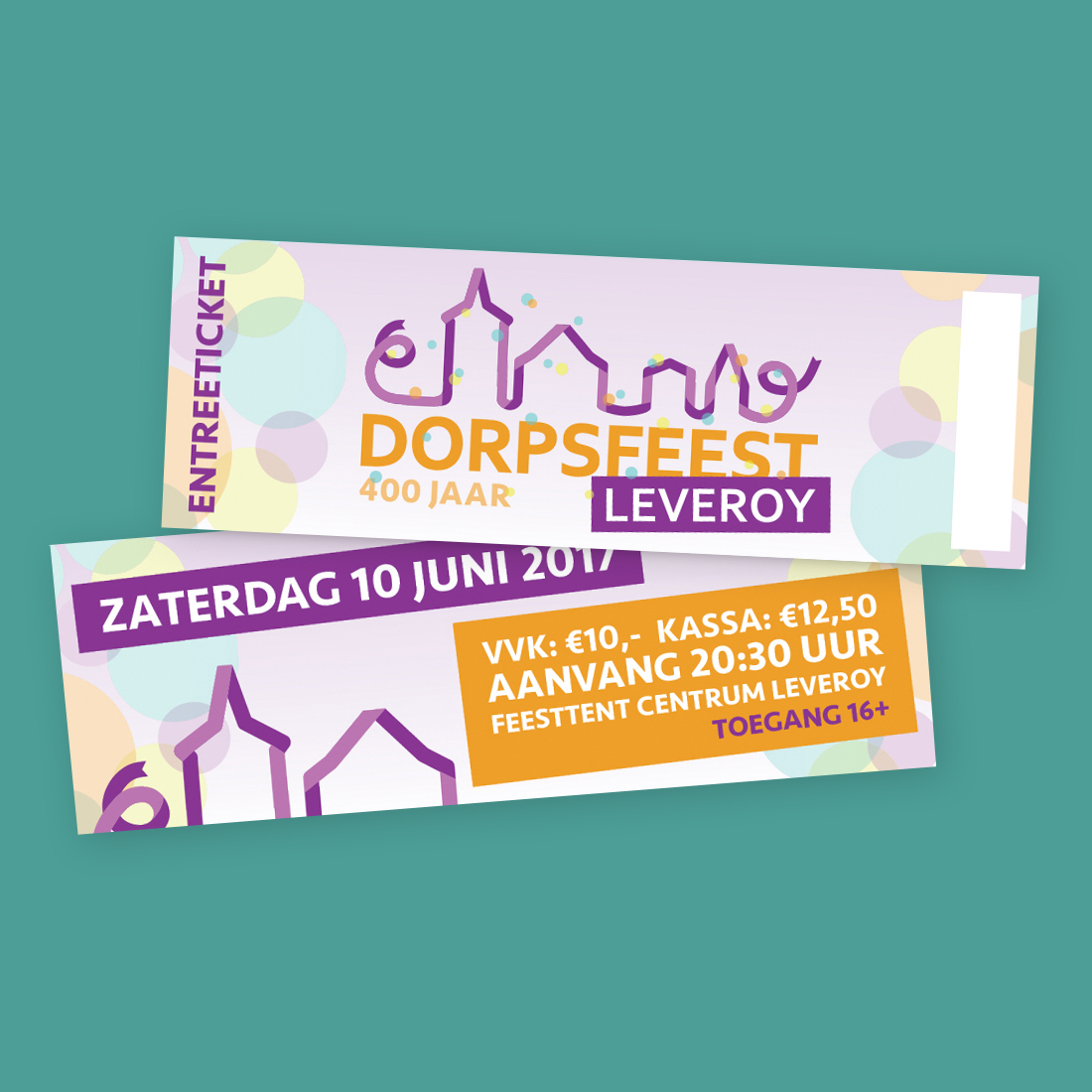 Ticket Dorpsfeest Leveroy