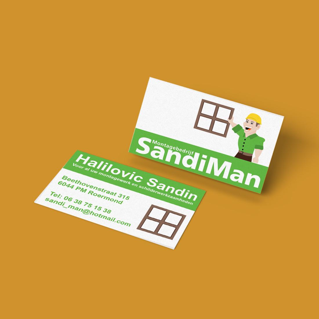 Visitekaartje SandiMan