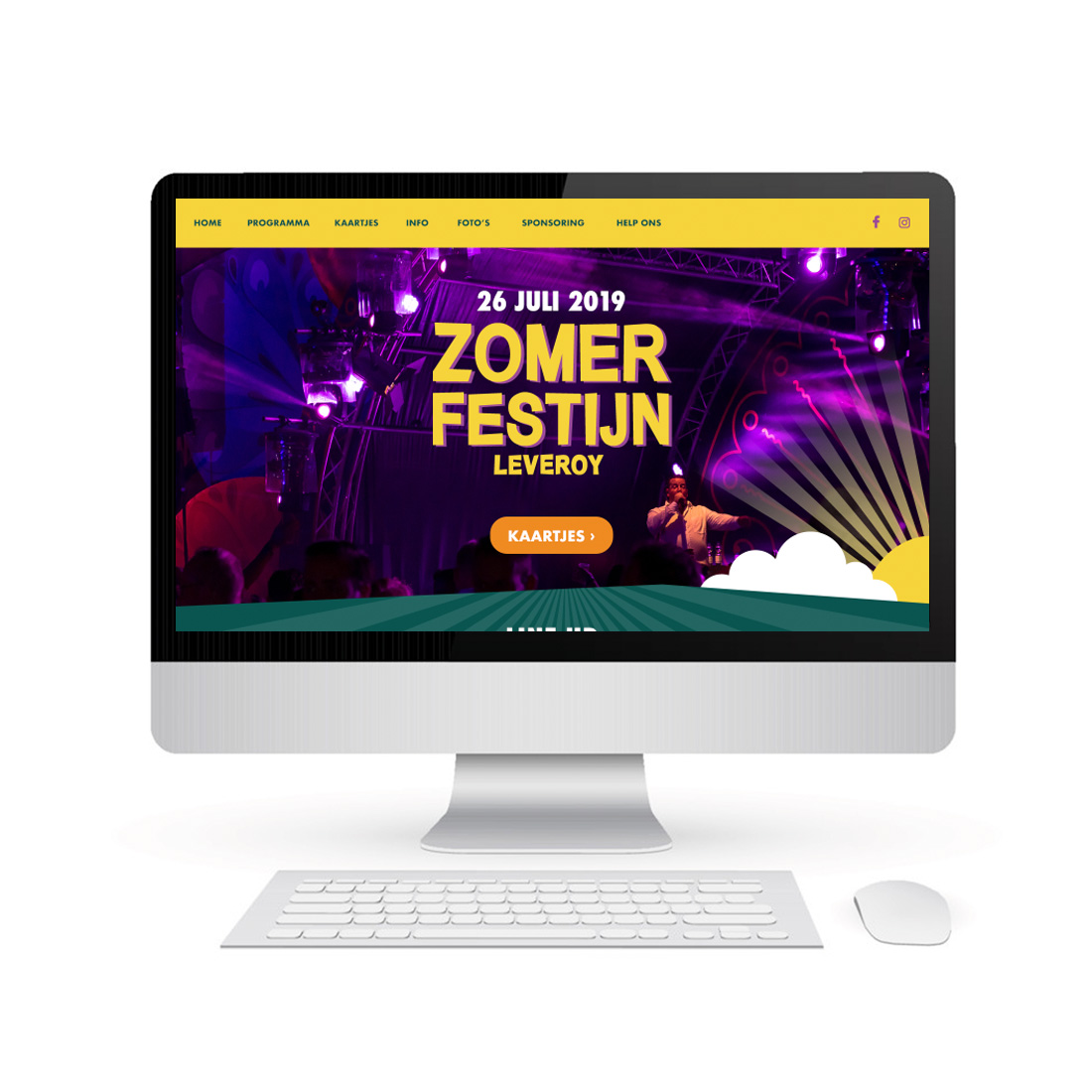 Website ontwerp Zomerfestijn Leveroy