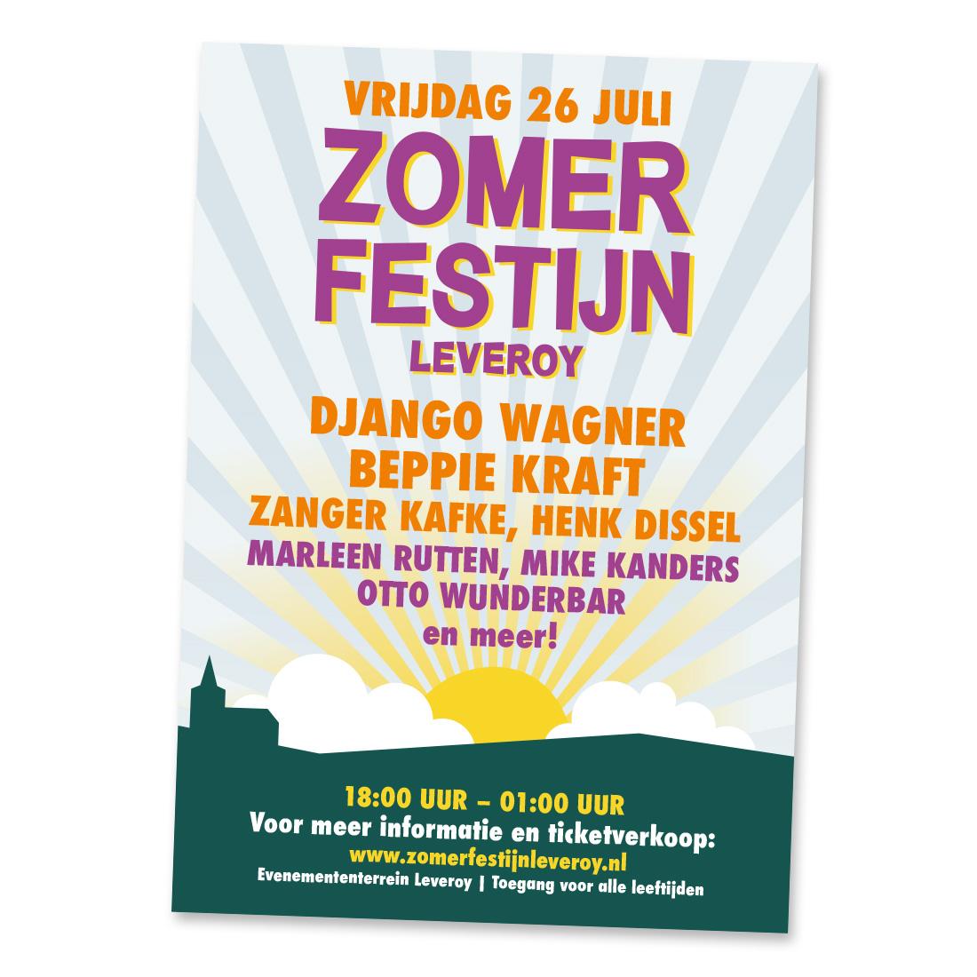 Poster Zomerfestijn Leveroy