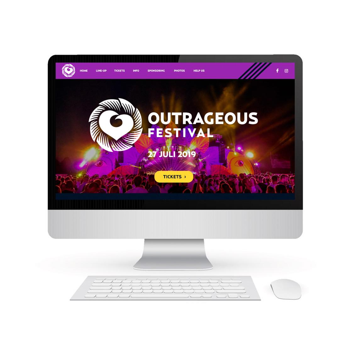 Website Outrageous Festival